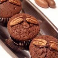 Czekoladowe muffinki z orzechami pekan