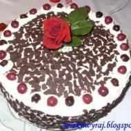 Tort Szwarcwaldzki, czyli wiśniowy tort z Czarnego Lasu- Black Forest Cake :)
