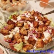 Kebabo - sałatka, czyli sałatka z kurczaka z gyrosem :)