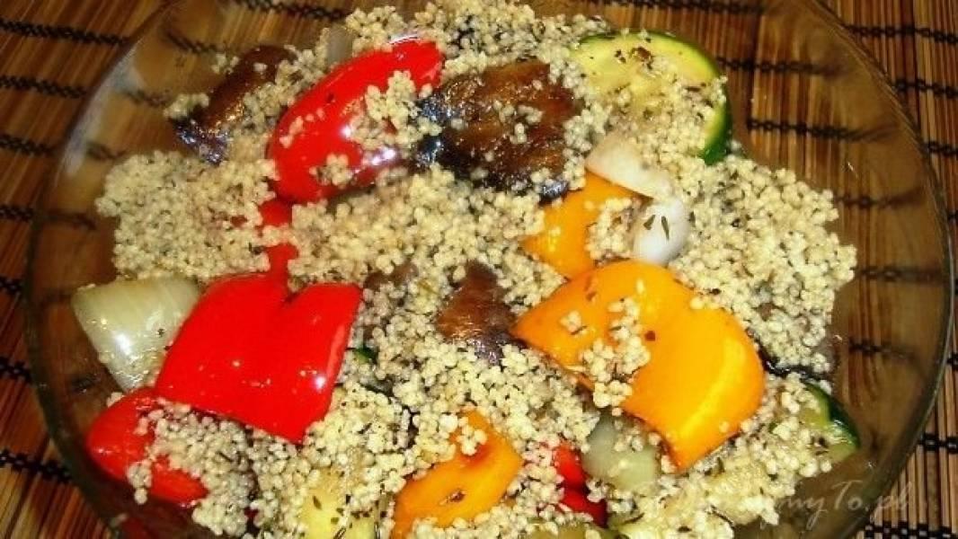 Sałatka: warzywa z grilla i…