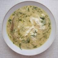 Zupa grzybowa ze śmietaną i jajkami