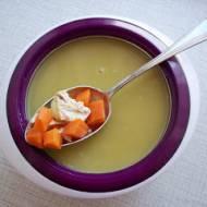 Zupa krem z groszku z chrzanem