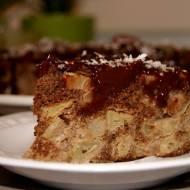 Jabłecznik bezglutenowy z polewą czekoladową - w dwóch odsłonach