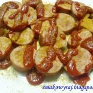 Curry wurszt-, czyli kiełbaski na sposób niemiecki, z keczupem i Curry :)