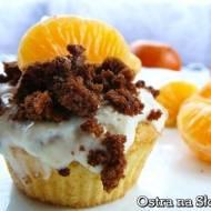 Muffinki z kremem pomarańczowym i mandarynkami