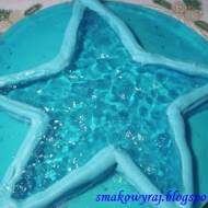 Gwiezdny tort błękitna laguna, w trzech kolorach niebieskich, z galaretką i ptasim mleczkiem, na każdą okazję :)