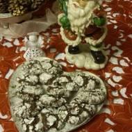 Kule śniegowe, czyli amerykańskie popękane / połamane ciasteczka czekoladowe- Chocolate Crinkle Cookies