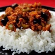Picadillo z ryżem.