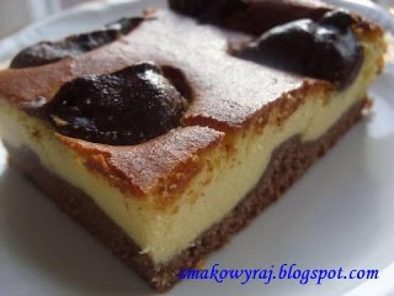 Łatek, czyli sernik z czekoladowo - bananową nutką