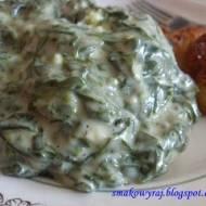 Szpinakowy sos na gęsto