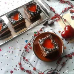 Walentynkowe ciasto z serduszkami