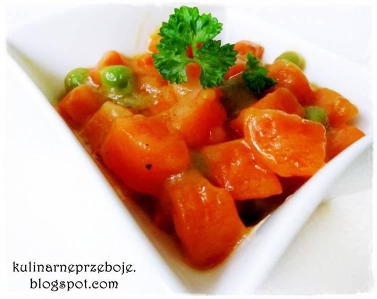 Marchewka ' na krótko ' z groszkiem (marchewka na słodko)
