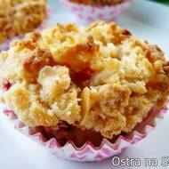 Muffiny truskawkowe z kruszonką