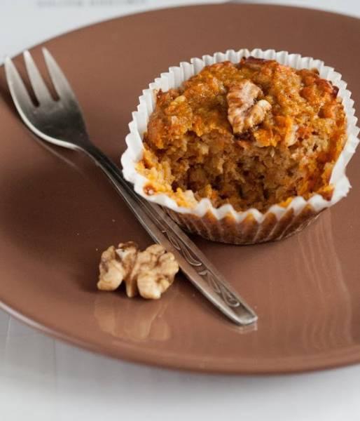 Dietetyczne muffinki marchewkowe z fasoli