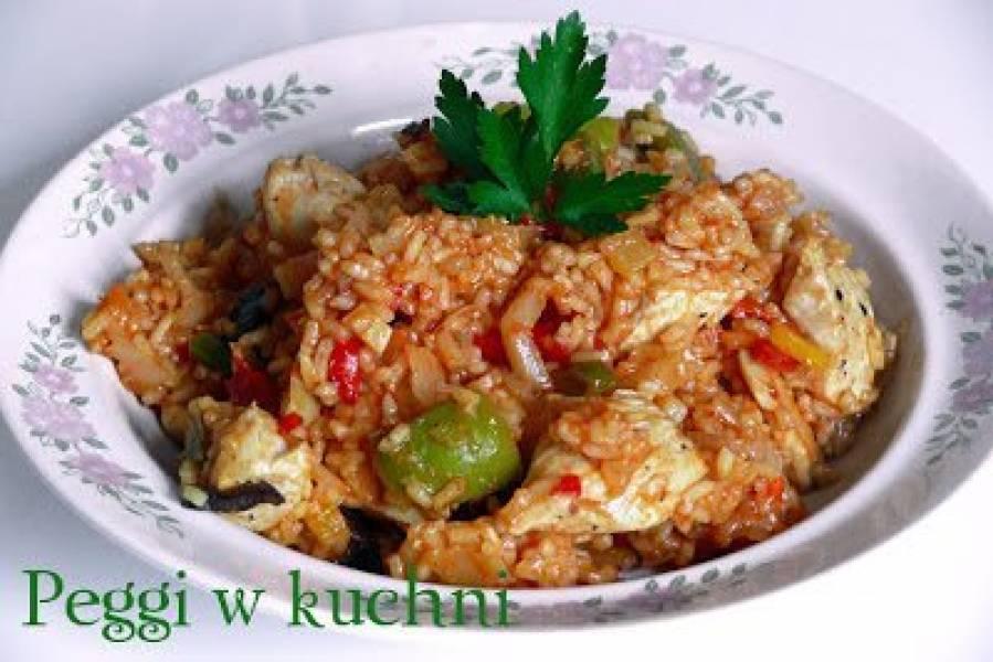 Jednogarnkowe danie z ryżu i kurczaka