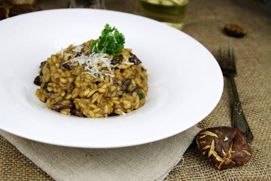 Risotto ai funghi secchi / Risotto z suszonymi grzybami