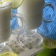 Koktajl bananowo - limonkowy