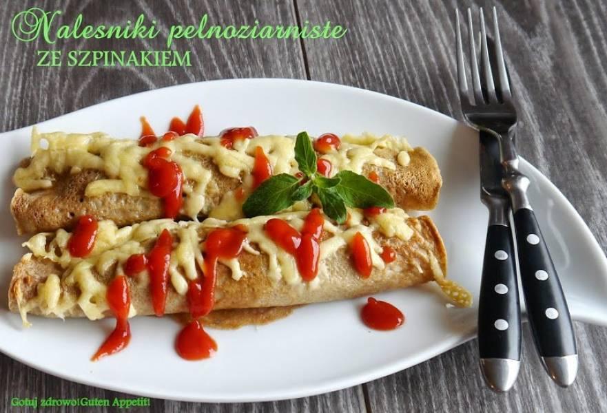 Pelnoziarniste nalesniki ze szpinakiem - Jedz szpinak na zdrowie!