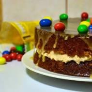 Wielkanocne ciasto z białą czekoladą i m&m's
