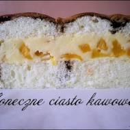 Słoneczne ciasto kawowe