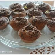 Muffiny kakaowe z budyniem