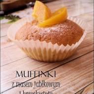 Muffinki z musem jabłkowym i brzoskwinią