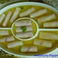 Roladki z szynki konserwowej z serkiem w galarecie