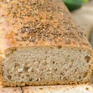 Chleb mieszany z siemieniem lnianym