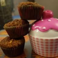 Muffinki marchewkowe light z serową niespodzianką
