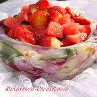 Sałatka z czerwonych owoców