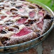 Ciasto: rabarbar, truskawka