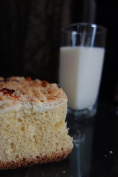 Ciasto drożdżowe z serem i kremem budyniowym