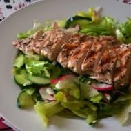 Kurczak na sałacie, czyli obiad w upalny dzień