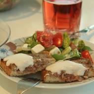 Grilowane tosty z mięsem mielonym - czyli to co lubię najbardziej