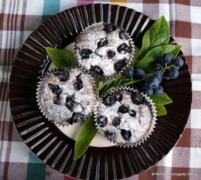 Muffiny owsiane z borówką amerykańską