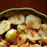Tarta z chorizo, ziemniakami i cebulą
