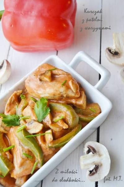 Kurczak z patelni z warzywami