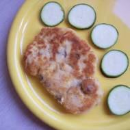 Kotlety z kaszki kukurydzianej z pieczarkami i serem