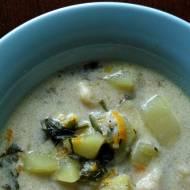Zupa z cukinią i zacierkami