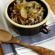 Libański ryż z soczewicą i karmelizowaną cebulką - Mujaddara