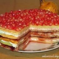 Tort naleśnikowy z granatem
