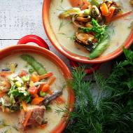 Zupa orientalna z warzywami