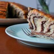 Ciasto zebra z kisielem i makiem