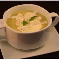 Zupa krem z pora z wędzonym twarogiem według Karola Okrasy
