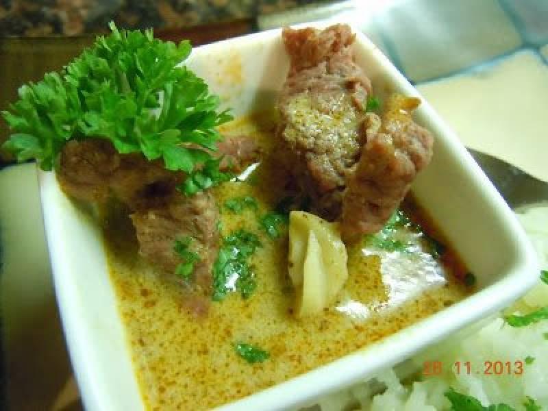 Kokosowe curry z wolowina - czyli Coconut beef curry