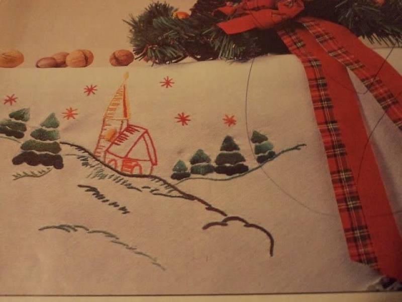 Haft na Boże Narodzenie