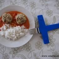 Pulpeciki z dorsza w sosie paprykowo-pomidorowym - dzieci to lubią!