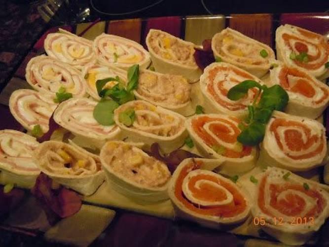 Wrapowe slimaczki- kolorowe kanapeczki
