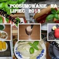 Podsumowanie aktywności na moim blogu - miesiąc LIPIEC 2013