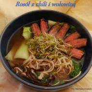 Rosół z chili i wołowiną